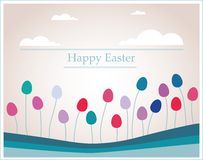 Easter eggs that looks like flowers in retro colors Royalty Free Stock Photos