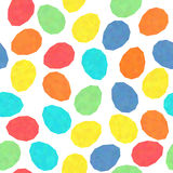 Easter eggs with low polygonal texture. Seamless. Holiday decoration. Stock Photography