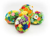 Easter eggs made of colored paper Stock Images