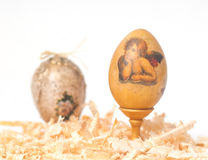Easter eggs made decoupage methods Stock Image