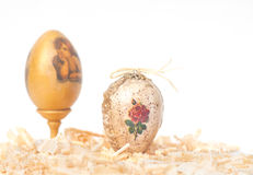 Easter eggs made decoupage methods Stock Image