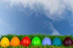 Easter eggs meadow 16 Royalty Free Stock Photography