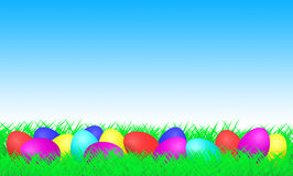 Easter Eggs on a meadow Royalty Free Stock Photos