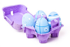 Easter Eggs in a Mini Carton Royalty Free Stock Images