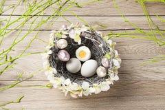 Easter eggs. Easter motive. White Easter Bunny Stock Photos