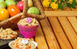 Easter eggs and muffins Royalty Free Stock Photos