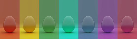 Easter eggs multi color royalty free stock image