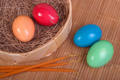 Easter eggs Stock Photos