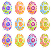 Easter Eggs. Multicolored Easter Eggs. Vector illustration Royalty Free Stock Photos