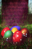 Easter eggs. Music background Stock Photo