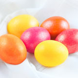 Easter eggs on the napkin Royalty Free Stock Image
