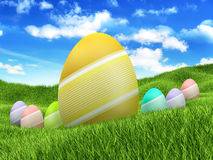 Easter eggs on nature background Stock Photography