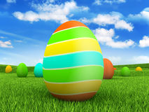Easter eggs on nature background Royalty Free Stock Image