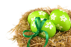 Easter eggs in the nest Royalty Free Stock Image