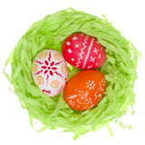 Easter eggs in the nest.  Stock Photography
