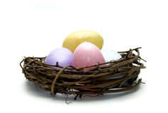 Easter - Eggs in Nest Stock Photo