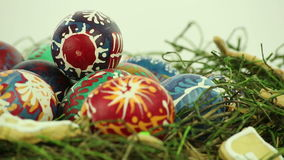 Easter eggs stock video