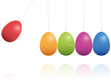 Easter Eggs Newtons Cradle Royalty Free Stock Photography