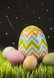 Easter Eggs at night. Royalty Free Stock Photography