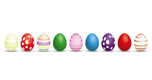 9 Easter Eggs Royalty Free Stock Photography