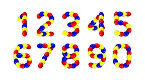 Easter eggs numbers - cdr format Stock Photo