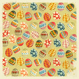 Easter Eggs -  old Easter background Stock Image