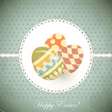Easter Eggs -  old postcard in vintage style Royalty Free Stock Images
