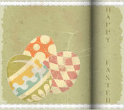 Easter Eggs -  old postcard in vintage style Stock Photos