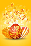 Easter Eggs with Ornament Decoration Royalty Free Stock Photography