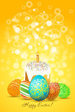 Easter Eggs with Ornament Decoration Stock Photos