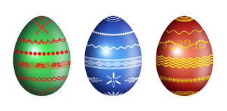 Easter eggs with ornament - illustration Royalty Free Stock Image