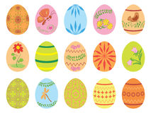 Easter eggs with ornament - vector Stock Images