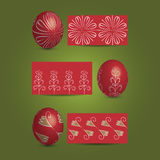Easter Eggs and Ornamental Patterns Royalty Free Stock Photo