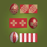 Easter Eggs and Ornamental Patterns Royalty Free Stock Image