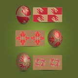 Easter Eggs and Ornamental Patterns Stock Image