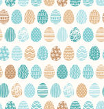 Easter eggs ornaments pattern Royalty Free Stock Photo