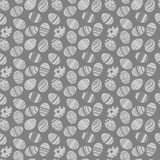 Easter eggs ornaments seamless pattern. Easter holiday grauy and white background for printing on fabric, paper for scrapbooking, Royalty Free Stock Photos