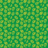 Easter eggs ornaments seamless pattern. Easter holiday green background for printing on fabric, paper for scrapbooking, gift wrap Royalty Free Stock Photography