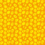 Easter eggs ornaments seamless pattern. Easter holiday orange and yellow background for printing on fabric, paper for scrapbooking Royalty Free Stock Image