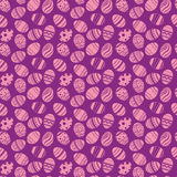 Easter eggs ornaments seamless pattern. Easter holiday violet background for printing on fabric, paper for scrapbooking, gift wrap Royalty Free Stock Image