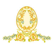 Easter eggs with ornaments vintage. Decorated Easter eggs  with ornamental pattern vintage vector illustration Stock Photos