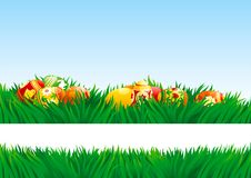 Easter eggs outdoor Royalty Free Stock Image