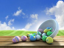 Easter eggs outside Stock Image