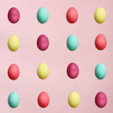 Easter Eggs Over Pink Royalty Free Stock Photo