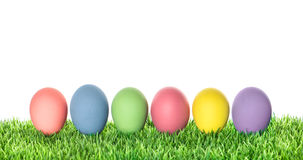 Easter eggs over white background. Colorful decoration Royalty Free Stock Images