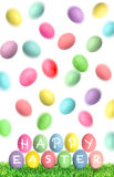 Easter eggs over white background. Funny decoration Stock Photos