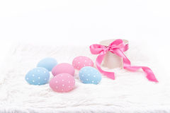 Easter eggs over white background Royalty Free Stock Photos