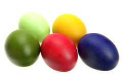Easter eggs. Painted colorful easter eggs  isolated on the white background Stock Images
