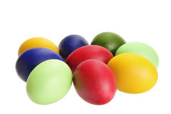 Easter eggs. Painted colorful easter eggs  isolated on the white background Stock Photo