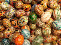 Easter eggs painted in colours. Easter eggs painted in many colours Royalty Free Stock Photography